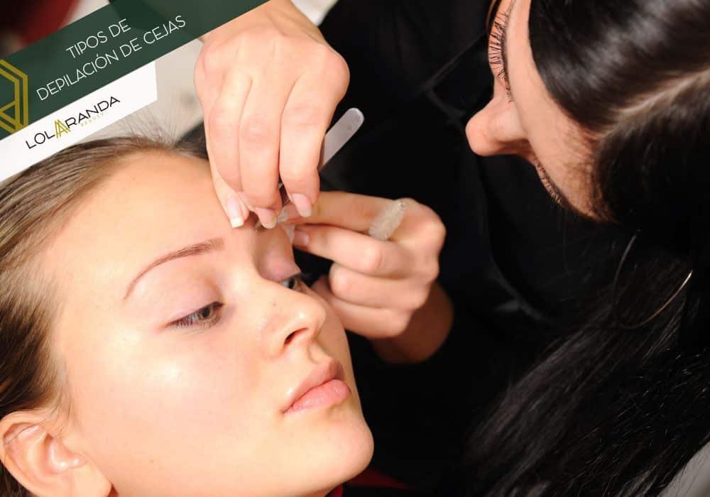 tipos de depilación de cejas femeninas